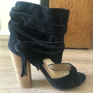 LEIGH SUEDE TWO-PIECE HEEL